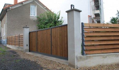 Réalisation de muret de clôture et de piliers de portail à Beaumont