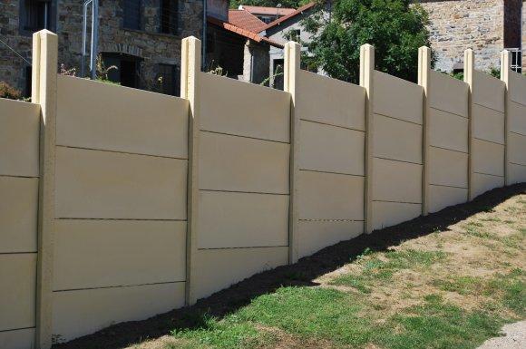 La pose de clôture